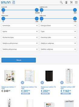 E-commerce system, eshops for tablets