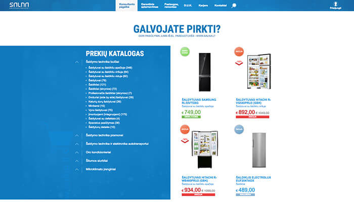 E-commerce system, online store