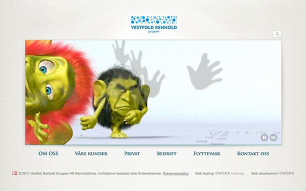 Website creation with 3D graphics