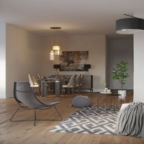 Living Room - Kitchen Visualization