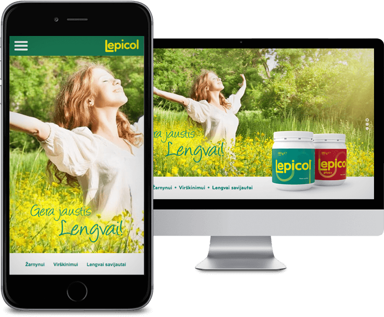 Website created for food supplement Lepicol