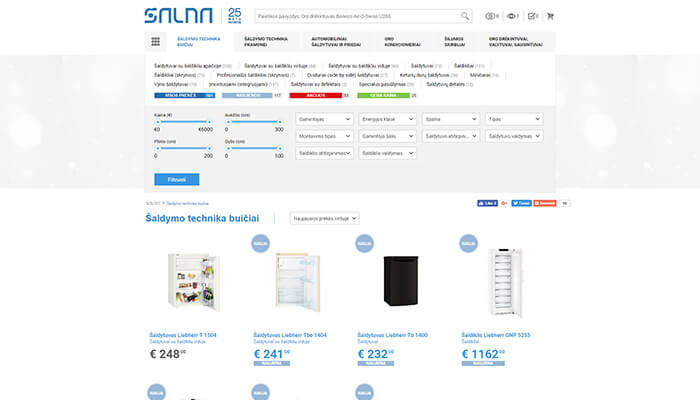 E-commerce system, online shop